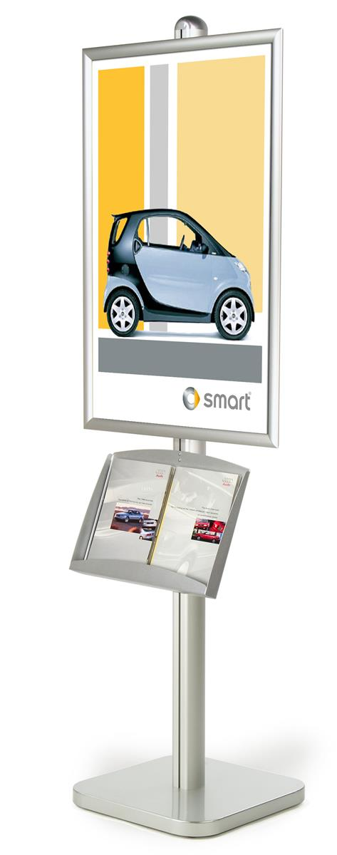 Brochure Sign Stand | Silver 6-Foot 24 x 36 Snap-Open Sign ...
