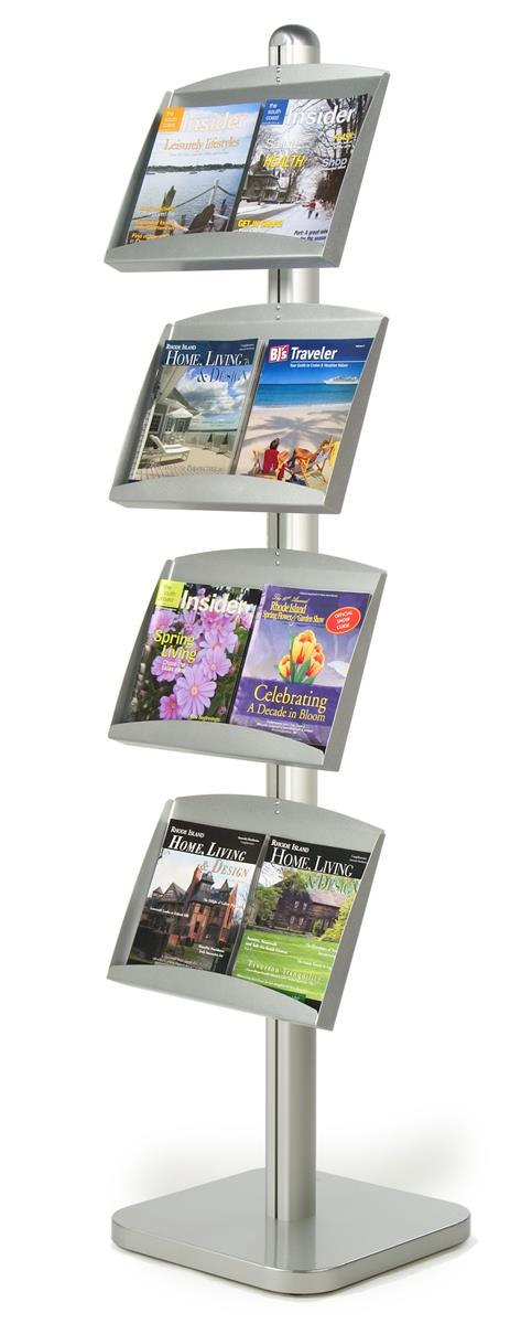 Brochure Stand 2 Sided Floor Standing Literature Holder