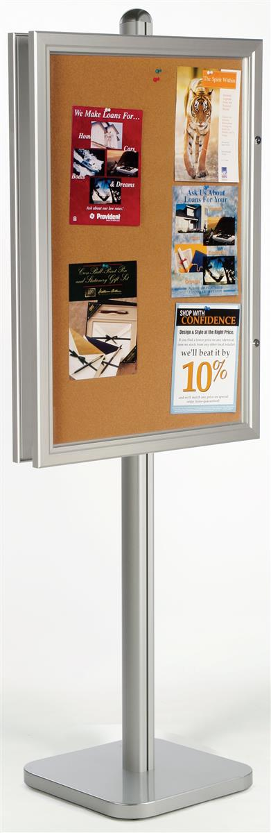 Enclosed Bulletin Board Swing Open Frame 24 Quot X 36 Quot