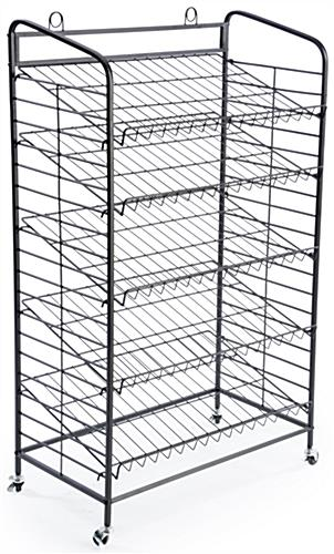 5 Shelf Bakers Rack Adjustable Shelves Amp 2 Sign Holders