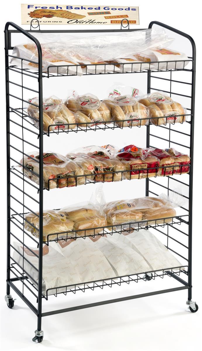 5 Shelf Bakers Rack Adjustable Shelves Amp 2 Sign Holders