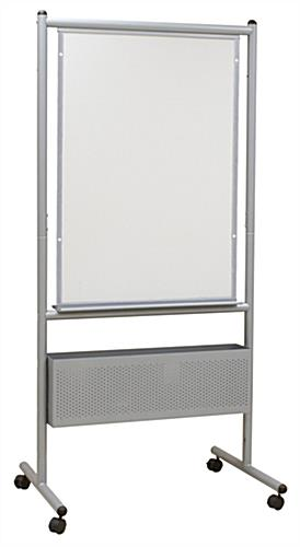 Expanding Porcelain Whiteboard with Steel Frame