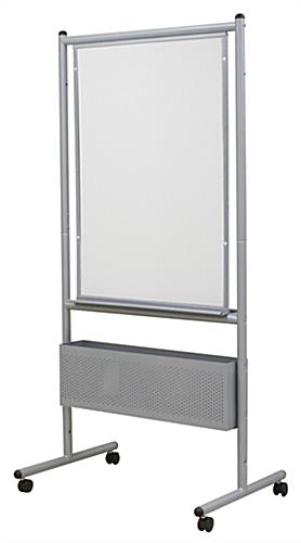 Expanding Porcelain Whiteboard, Double Sided