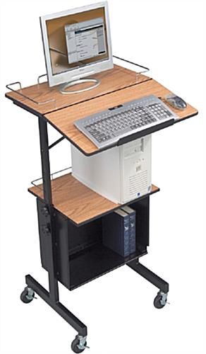Height Adjustable Laptop Presentation Stand