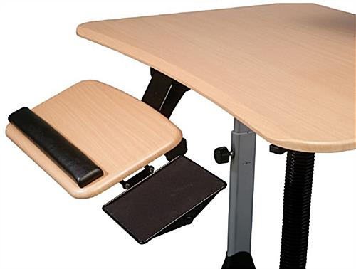 Adjustable Height Standing Desk Adapts For Sit Or Stand Use