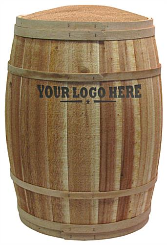 Custom Retail Display Barrel for Feed Stores