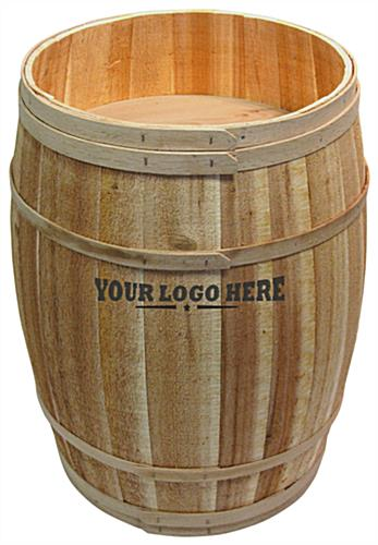 Rustic Custom Retail Display Barrel
