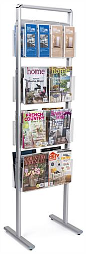 Silver double-sided brochure stand