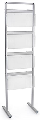 Brochure and magazine display rack with floor standing display