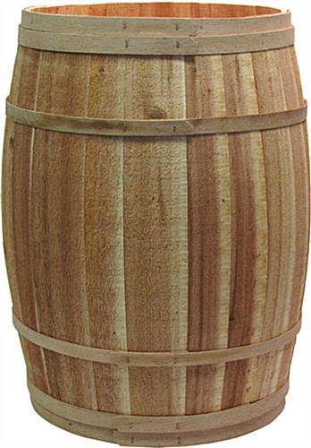 Cedar Barrel Full Size Wooden Cask