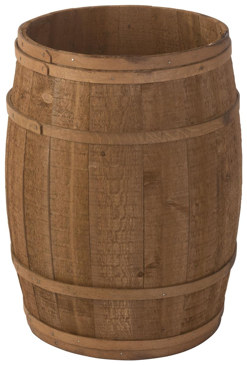 Round Cedar Barrel Light Brown Stain
