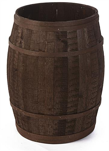 Tall Barrel Planter for Country Stores