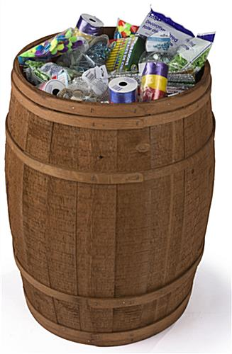 Shallow Barrel Display for Craft Stores