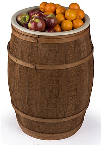 Wooden Food Grade Barrel with Removable Liner