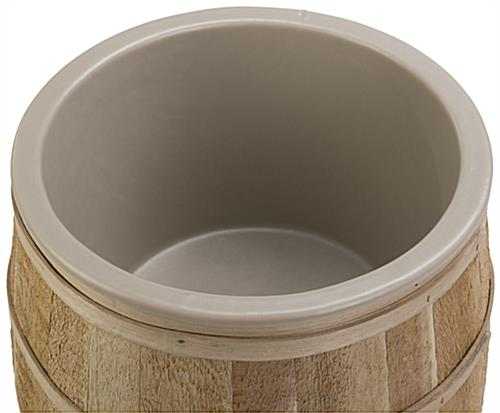 Lined Bulk Food Barrel with Oak Bands
