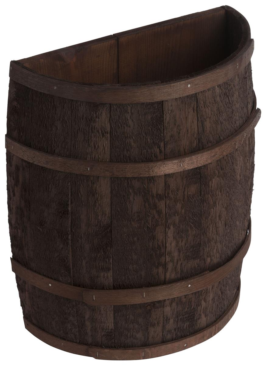 Stained Half Barrel Flat Back