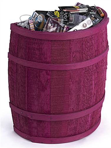 Colorful Magenta Barrel Display