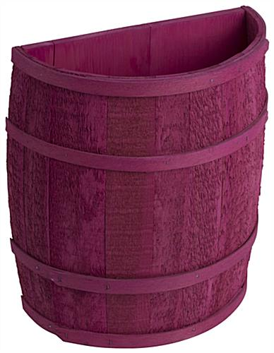 Magenta Barrel Display for Country Stores