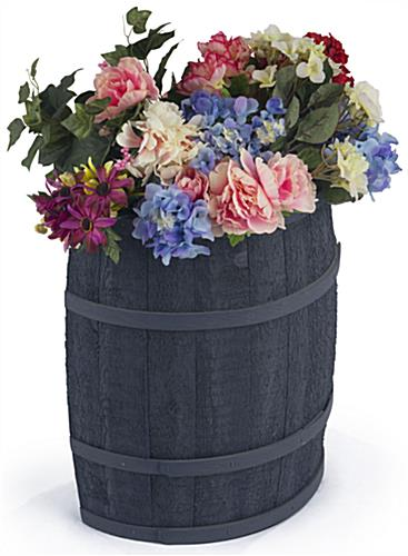 Navy Blue Barrel Display for Garden Planters