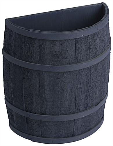 Navy Blue Barrel Display with False Bottom