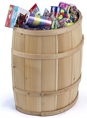 Decorative Storage Barrel with Cedar Staves