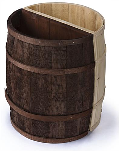 Natural Decorative Storage Barrel
