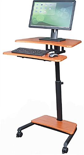 Stand up laptop desk 2 locking casters for Mobile computer ikea