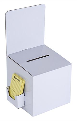 White Cardboard Entry Box with Sign Header