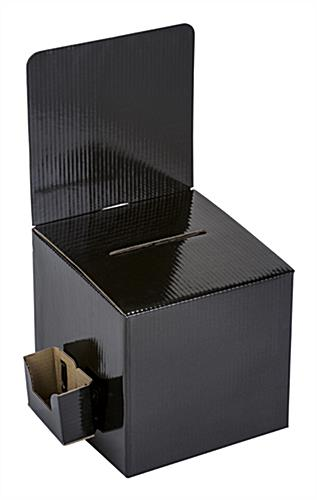 Black Countertop Lead Box with Side Pocket