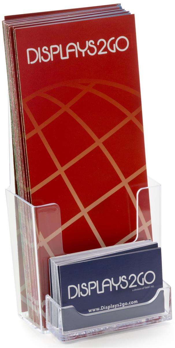 Clear Leaflet Holders | Single Pocket with Business Card Slot
