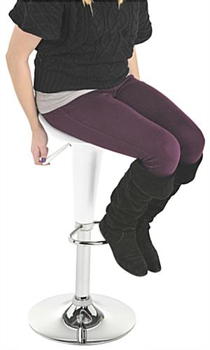 Modern Bar Stool with Ergonomically Designed Seat