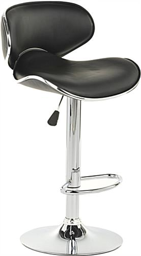 Hydraulic Stool Hydraulic Stool ...  sc 1 st  Displays2go & Hydraulic Stool | 360 Degree Swivel w/ Foot Rest - Black Leather islam-shia.org