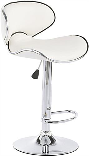 White Bar Stool White Bar Stool ...  sc 1 st  Displays2go & White Bar Stool | Can Swivel 360u0026de; and is Height Adjustable islam-shia.org