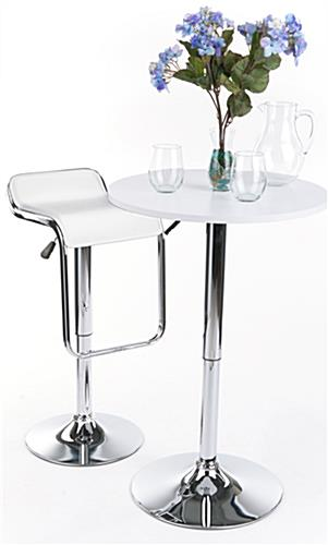 Hydraulic Bar Stool with Padded Seat