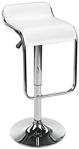 Hydraulic Bar Stool, Faux Leather & Metal