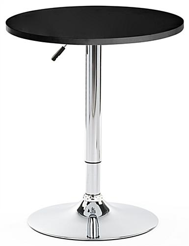 Hydraulic Bar Table with Chrome Base