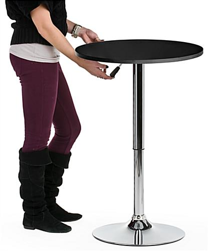 Hydraulic Bar Table Black Top Height Adjustable
