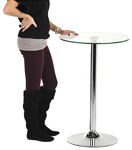 Glass High Top Table