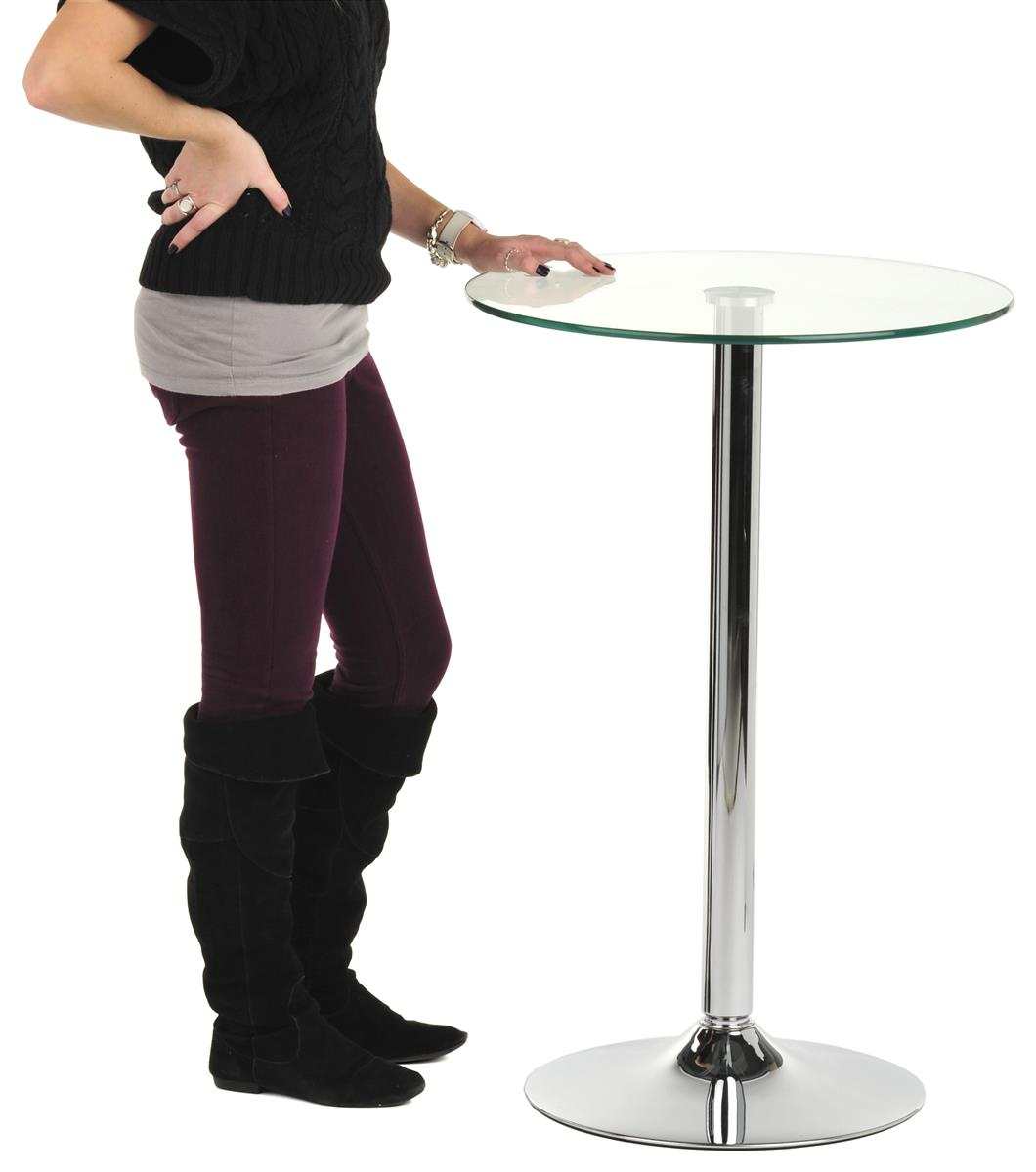 Glass High Top Table Modern Dining And Bar Display