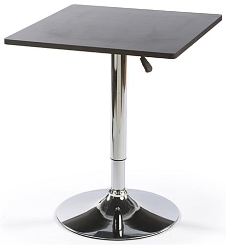 Pneumatic Table Height Adjustable With Square Top