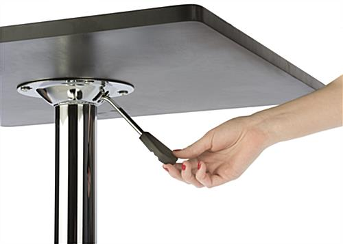 Pneumatic Table in Black & Chrome