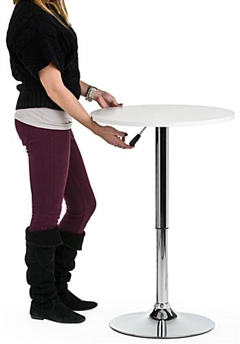 Silver Bar Table