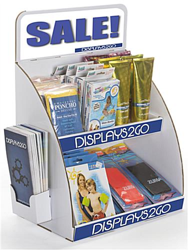 Tabletop Cardboard Display with Brochure Holder with 2 Tiers
