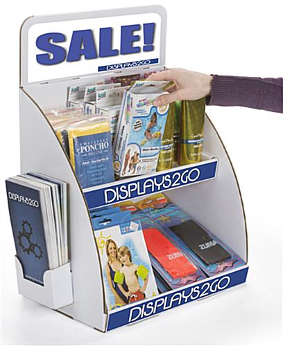 "Tabletop Cardboard Display with Brochure Holder, 17.25"" Overall Width"
