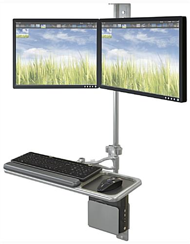 Dual Screen Workstation Wall Mount