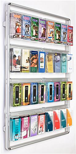 16 Or 32 Pocket Acrylic Magazine Wall Holder Silver
