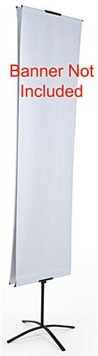 Double-Sided Banner Stand With Non-Retractable Design