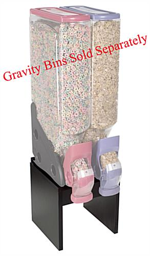 Black Gravity Bin Stand For Two 2 Or 5 Gallon Bins