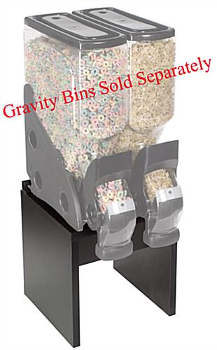 Black Gravity Bin Stand For Two 3 Or 5 Gallon Bins