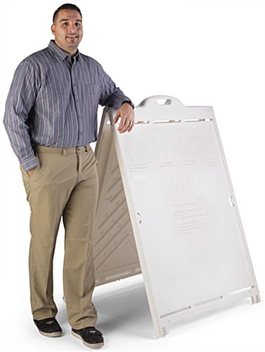 36 x 48 Sandwich Board with Wheels